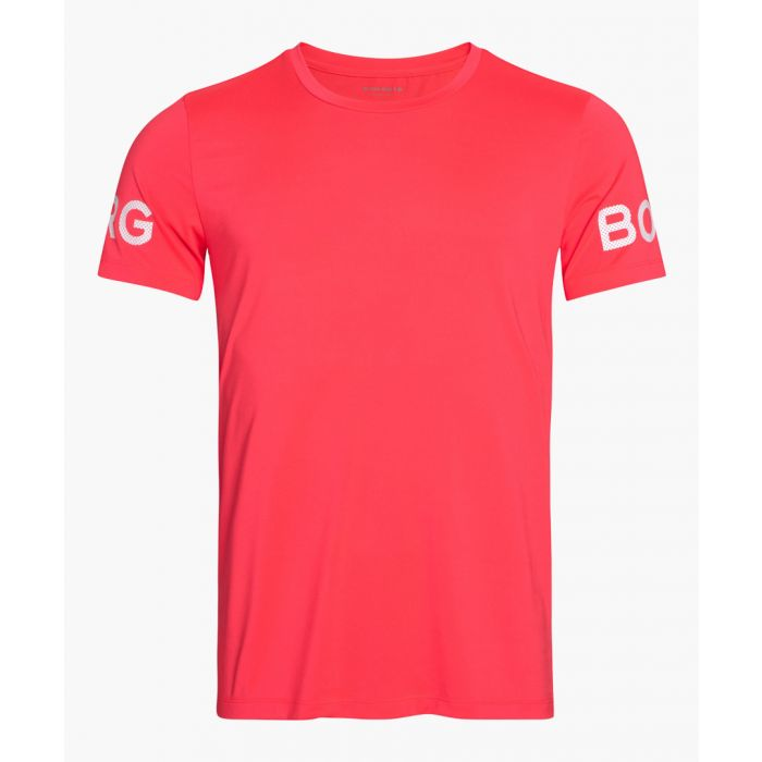 Image for Pink logo band top