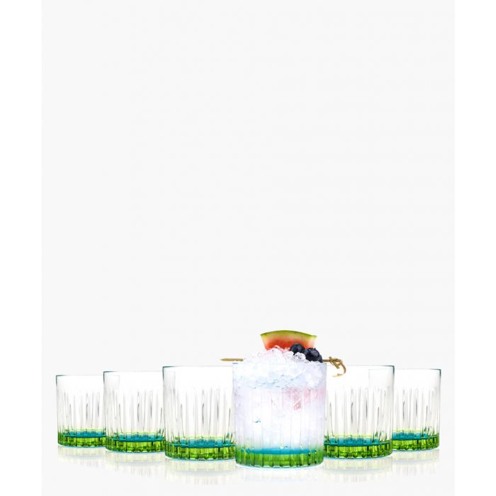 Image for 6pc Gipsy Crystal Short whisky and water tumblers glasses 360ml