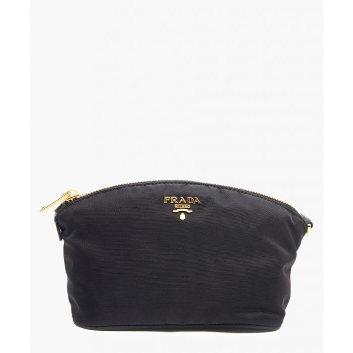 Image for Black leather clutch