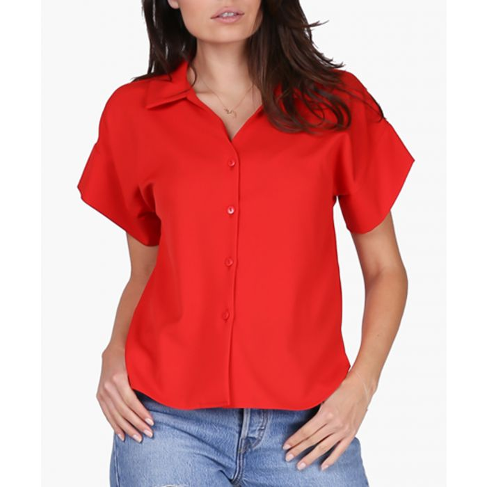 Image for Red Woven Blouse