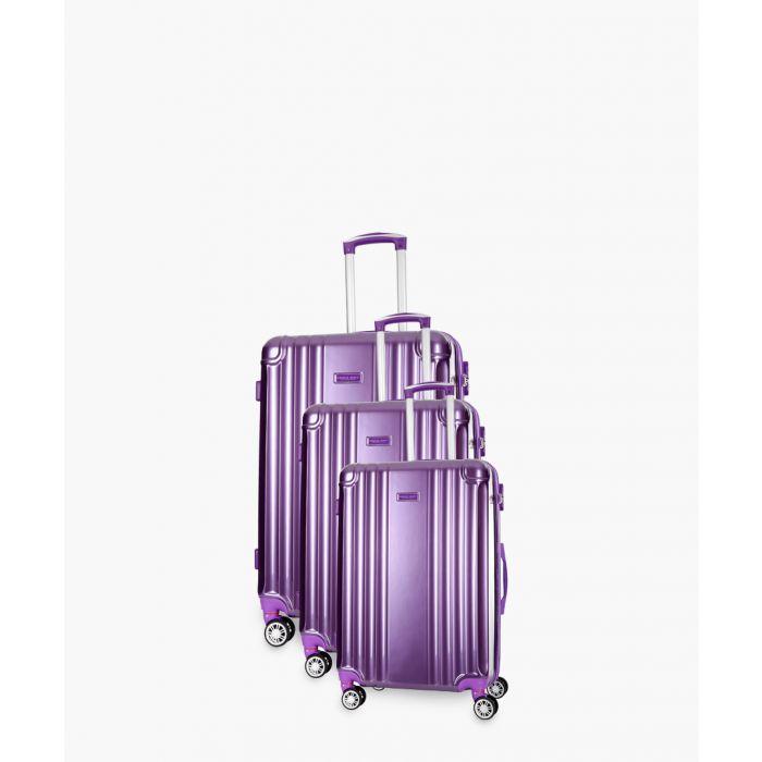 Image for 3pc Comilla violet suitcase set