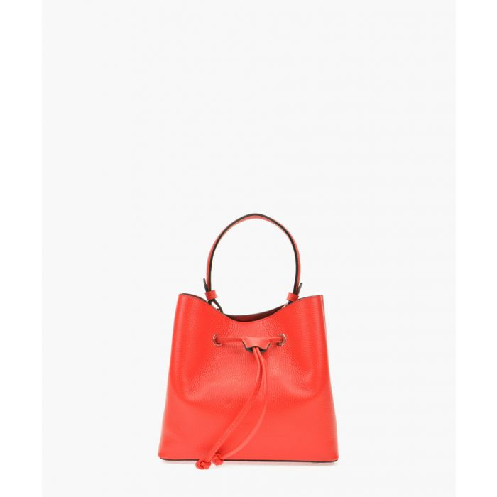 Image for Red leather handbag