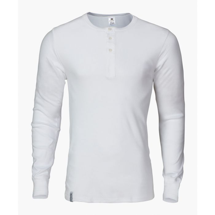 Image for White pure cotton granddad top