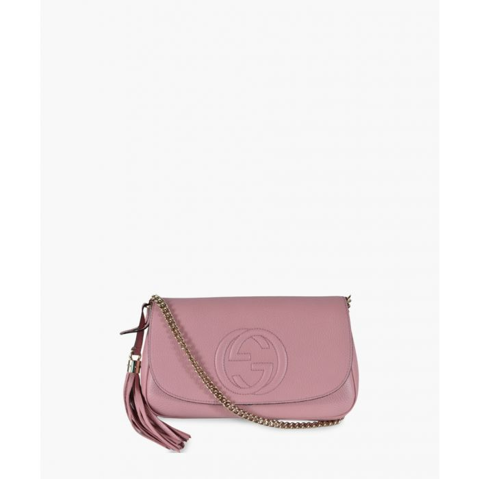 Image for Soho pink leather tassel crossbody