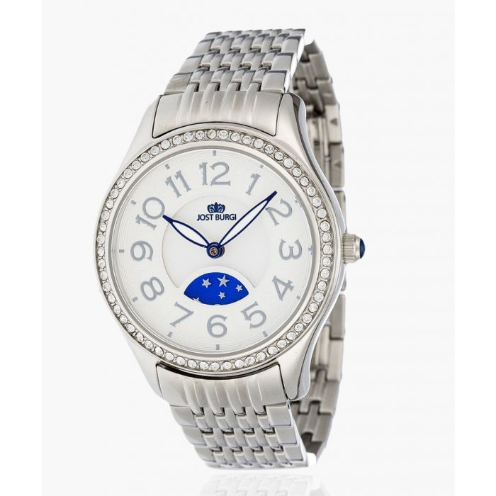 Image for Stella silver-plated and white dial watch