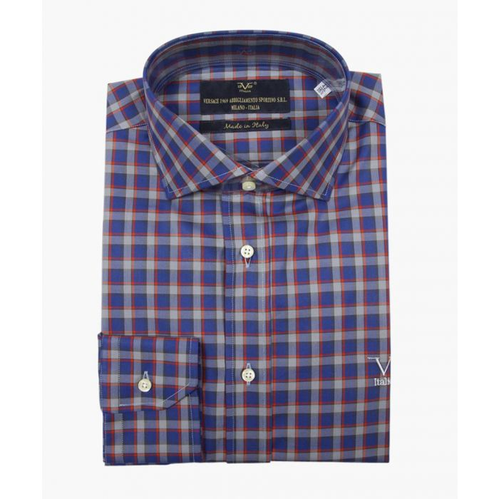 Image for Red pure cotton classic collar shirt