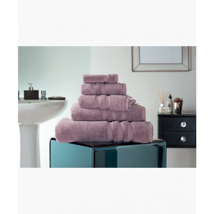 Image for Mauve Turkish pima cotton bath towel