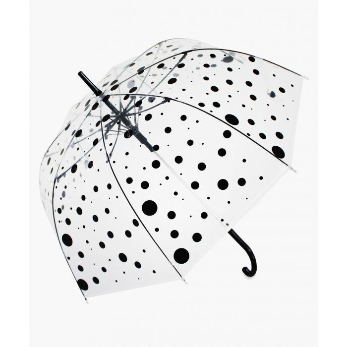 Image for Black polka dot transparent umbrella