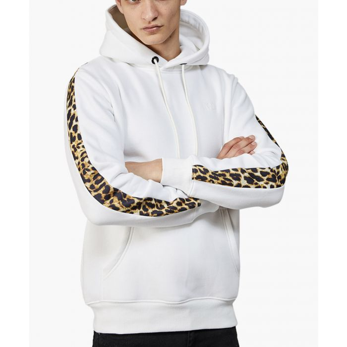 Image for White and multi-coloured cotton blend hoodie