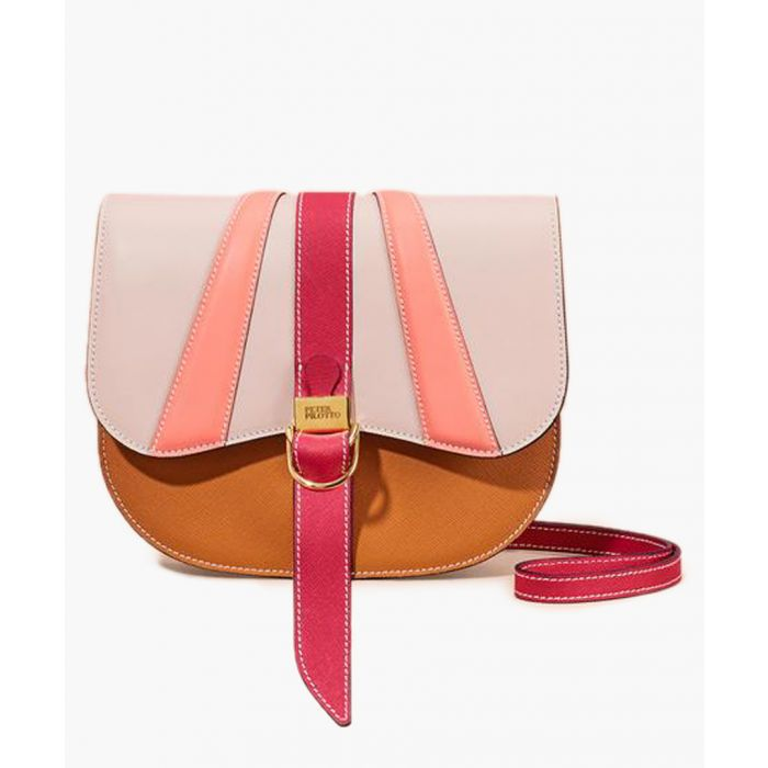 Image for Multi-coloured leather satchel