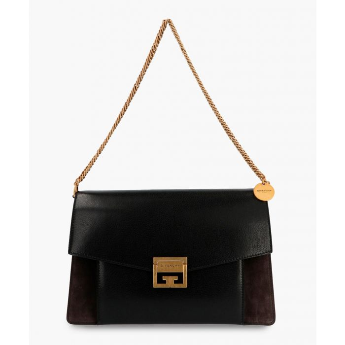 Image for Medium GV3 black leather and suede bag