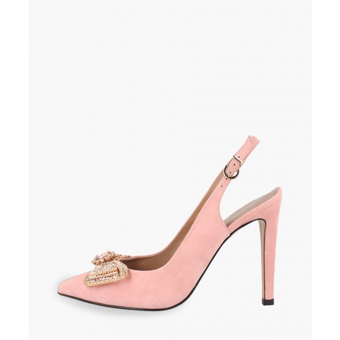 Image for Pink leather heels