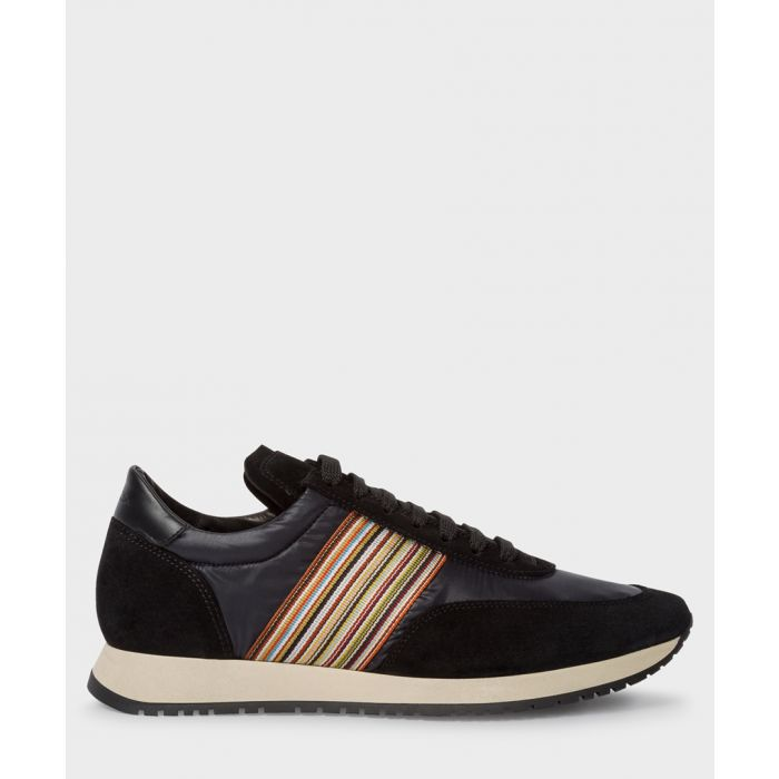 Image for Black contrast panel trainers