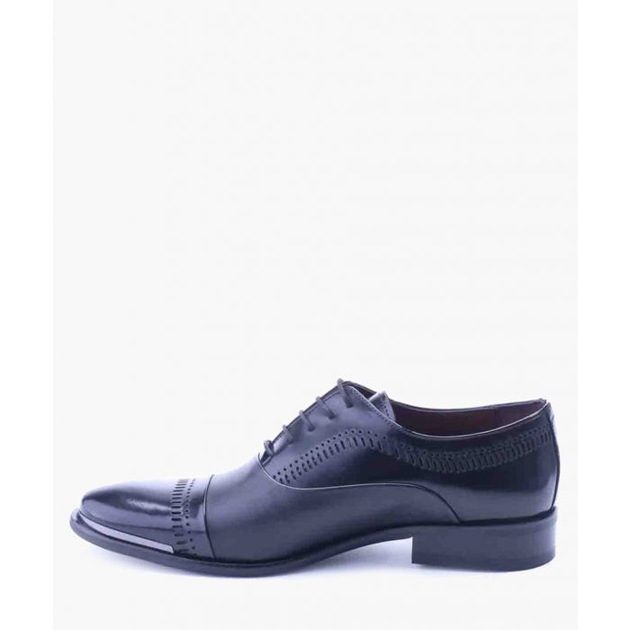 Image for Black leather Derby shoes