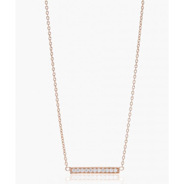Image for Simeri rose gold-plated necklace