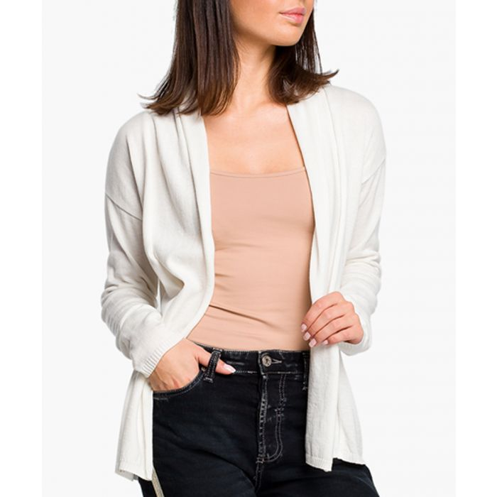 Image for White cotton blend cardigan