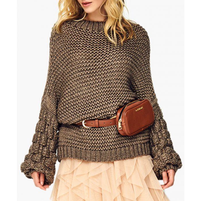 Image for Dark tabacco wool blend jumper