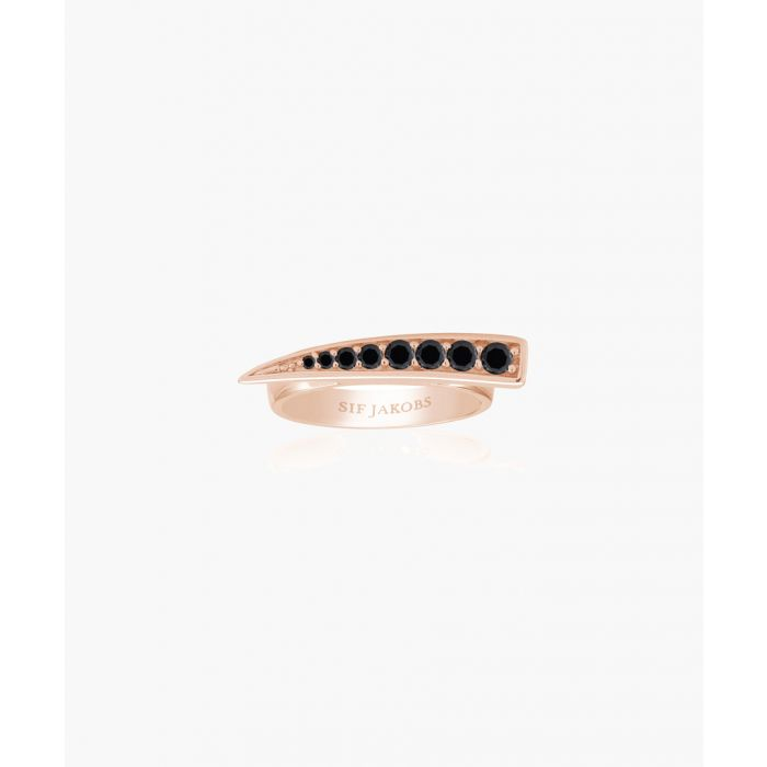 Image for Pila rose-plated black zirconia ring