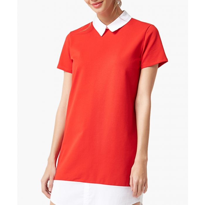Image for Red flared cut dress