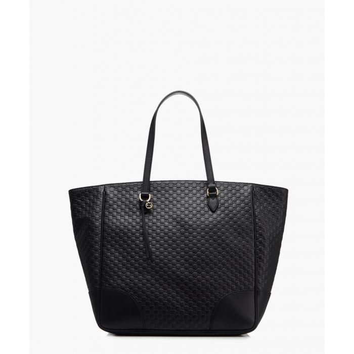 Image for Bree black Guccissima leather shopper