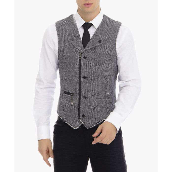 Image for Grey button-up waistcoat