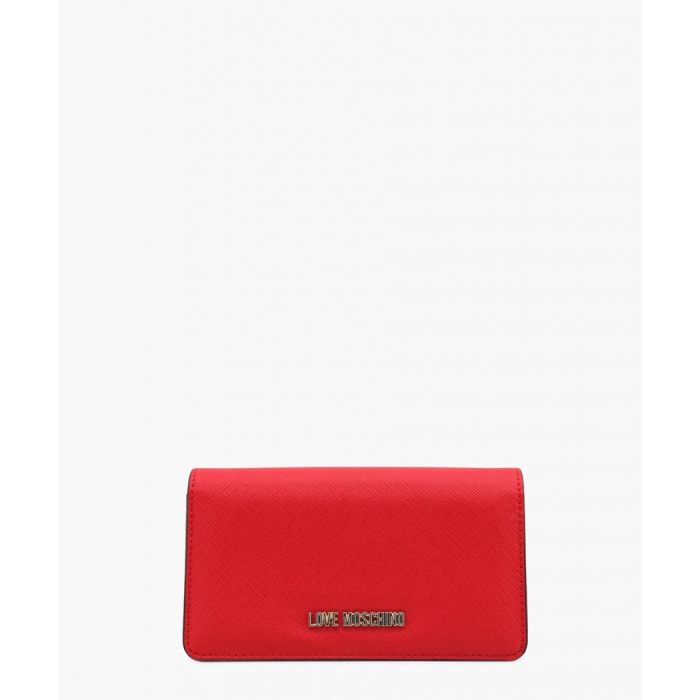 Image for Red faux-leather purse