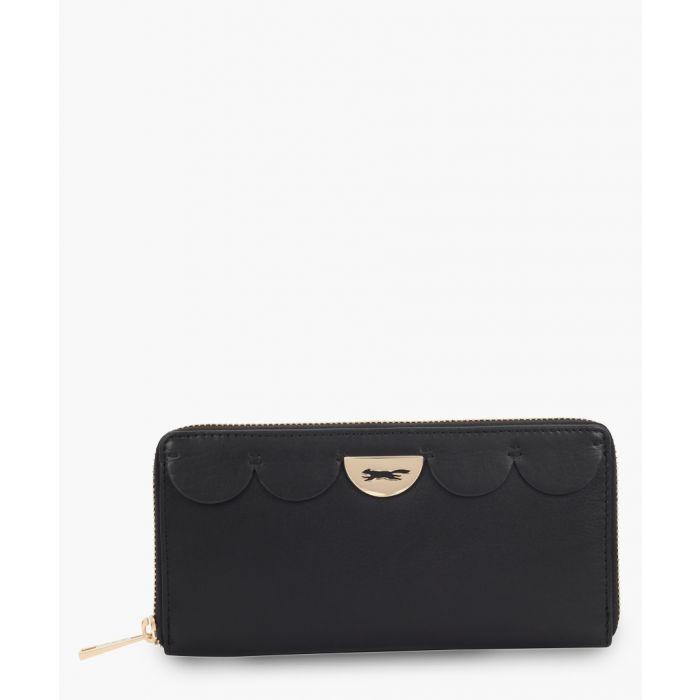 Image for Michigan black leather purse