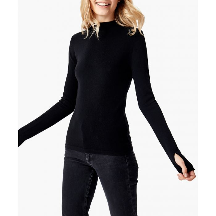 Image for Black pure cashmere knitted jumper