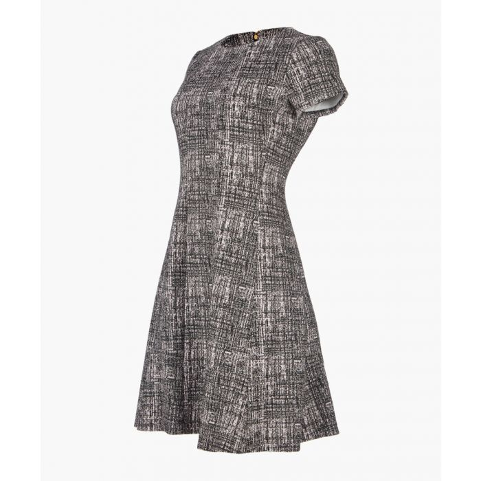 Image for Mauve textured short sleeve dress