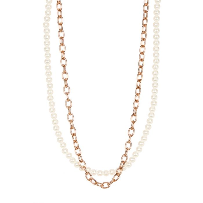 Image for 18k rose gold-plated steel necklace
