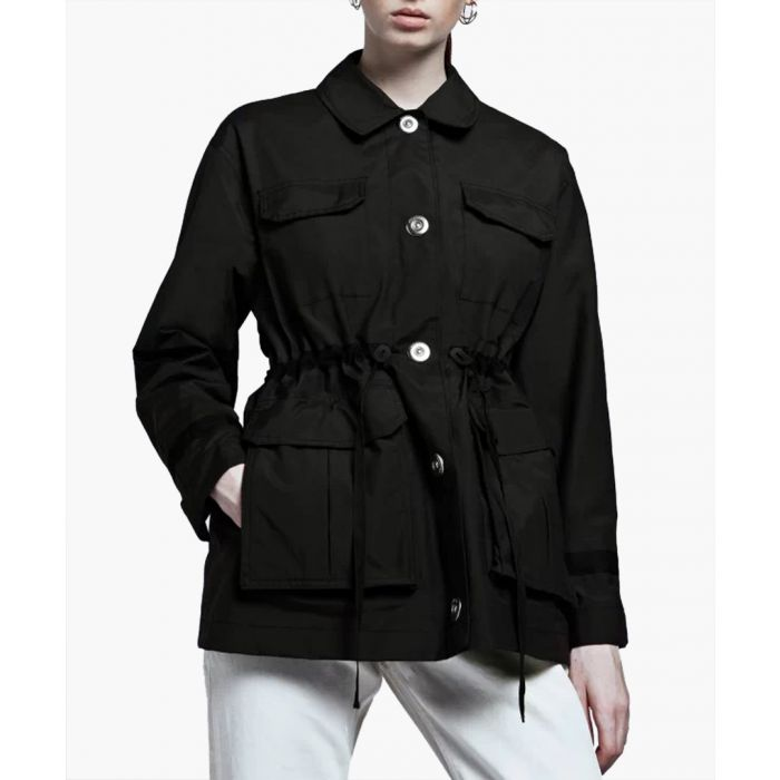 Image for Black cotton blend jacket