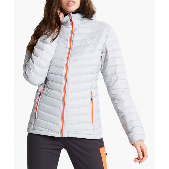 Image for Argent grey elative down jacket