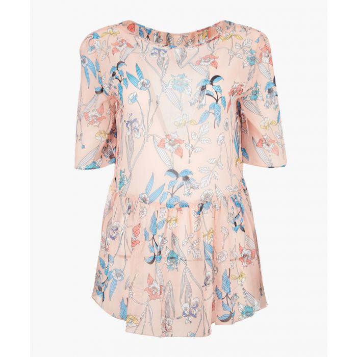 Image for Erica multi-colour cold-shoulder blouse