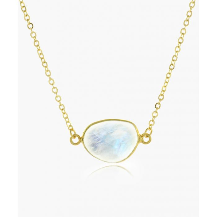 Image for 14k gold-plated and moonstone necklace