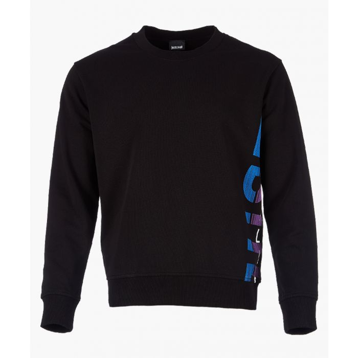 Image for Black cotton logo print sweatshirt