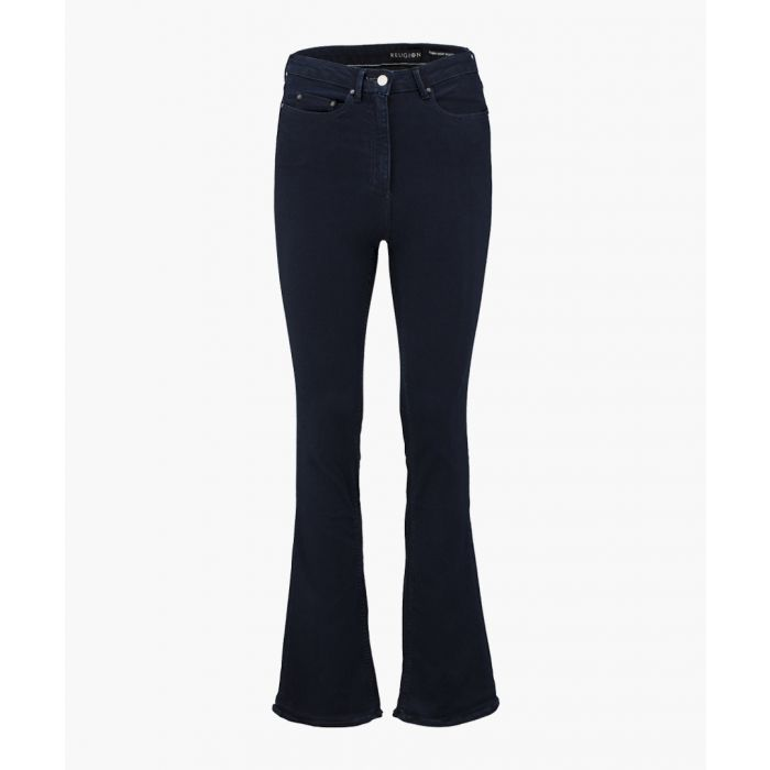Image for Indigo wash triumpt flared high waisted jeans