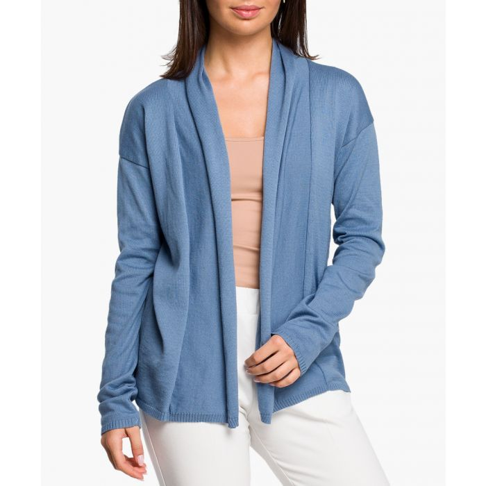 Image for Blue cotton blend cardigan