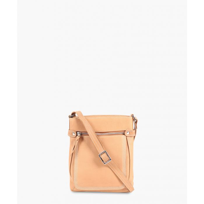 Image for Tan leather crossbody
