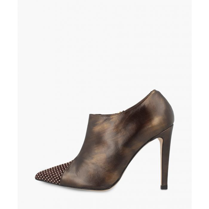 Image for Bronze leather ankle boots