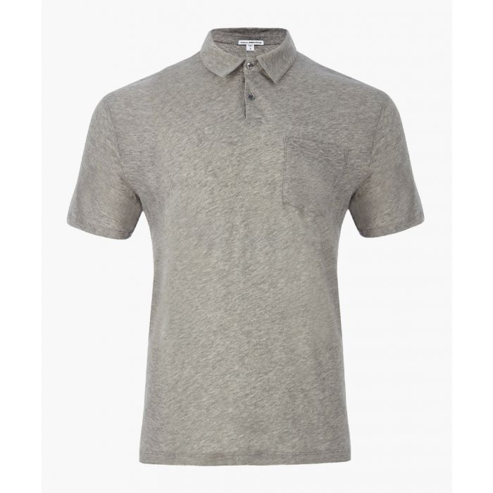 Image for Heather grey pure cotton  Polo Shirt