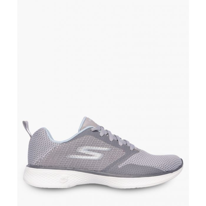 Image for Go Walk 4 Edge gunmetal and purple trainers