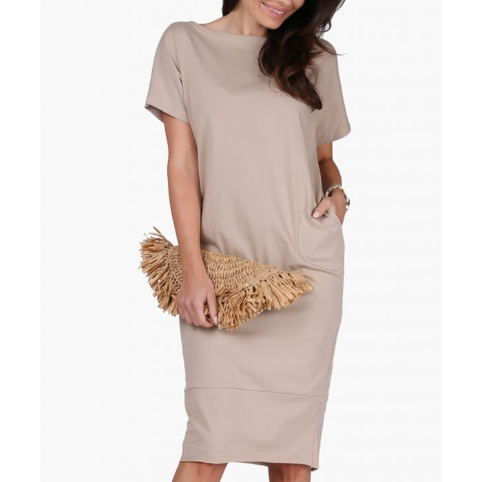 Image for Beige cotton blend dress