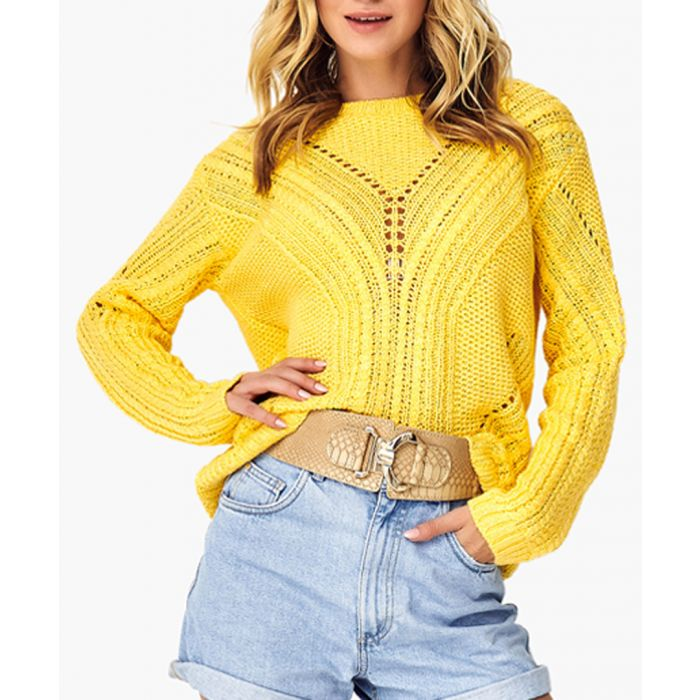 Image for Yellow knitted jumper