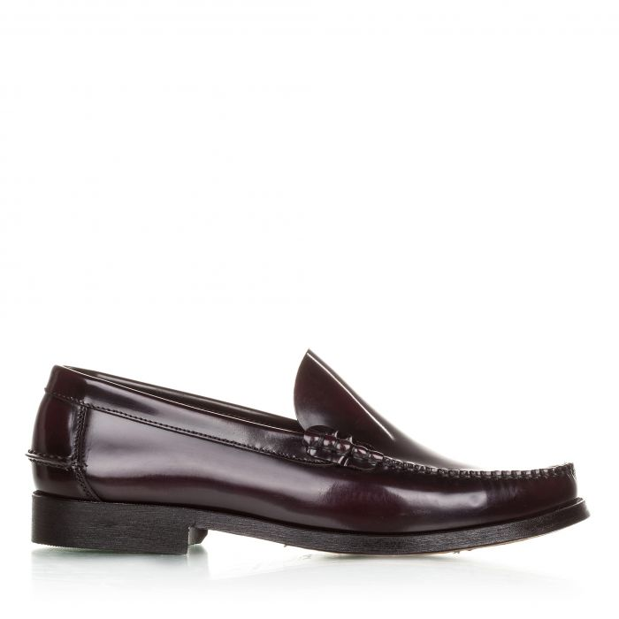 Image for Burgundy leather moccasins