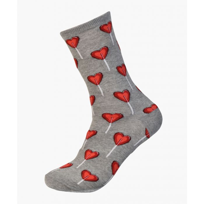 Image for 2pc Valentines Heart cotton-blend socks