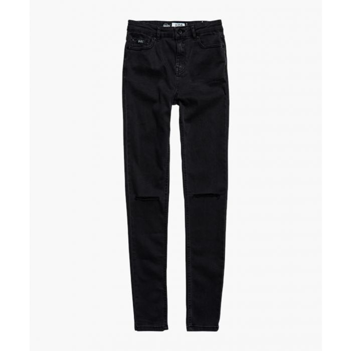 Image for Sophia charcoal grey cotton blend skinny jeans