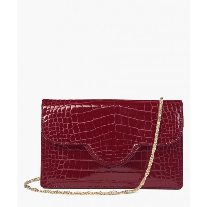Image for Bordeaux moc-croc crossbody