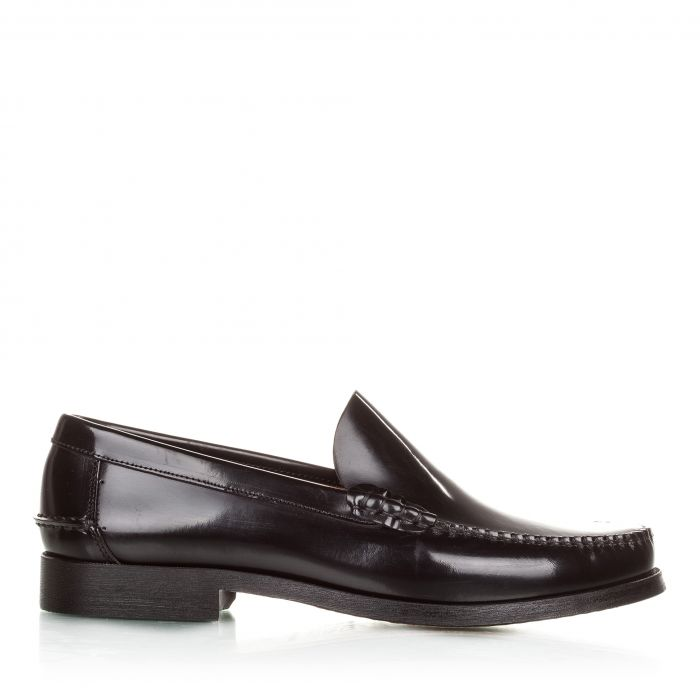 Image for Black leather moccasins