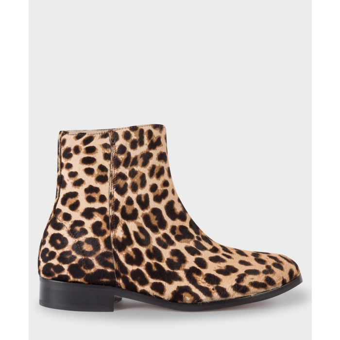 Image for Light beige leopard printed boots