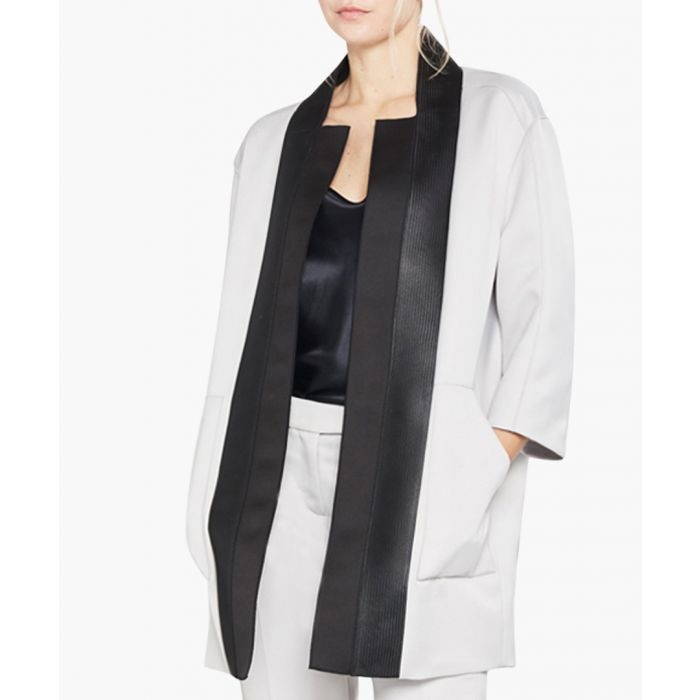Image for Light grey panel coat